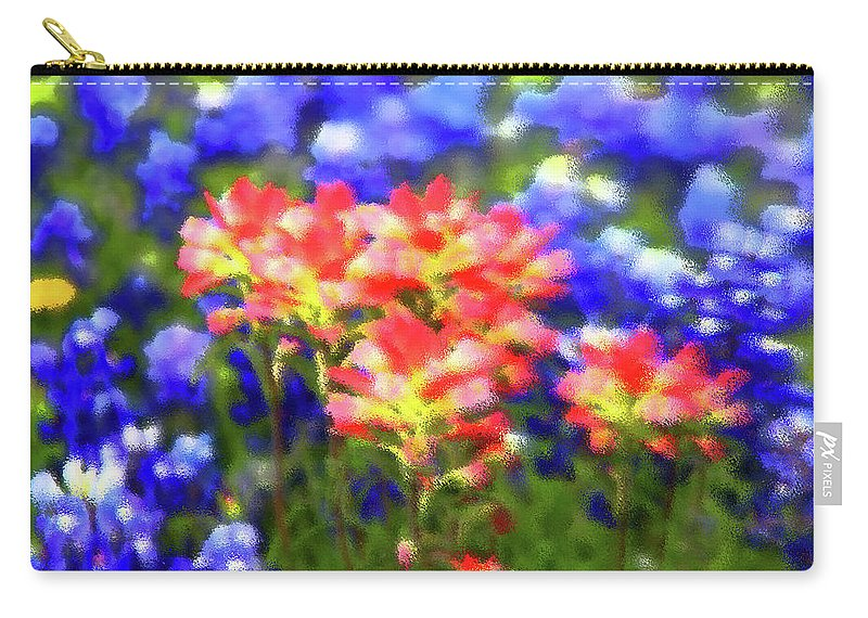 Flowers Carry-all Pouch featuring the photograph Oklahoma Wildflowers by Toni Hopper