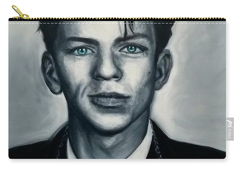 Portrait Carry-all Pouch featuring the painting Ol' Blue Eyes by Jonathan Luczycki