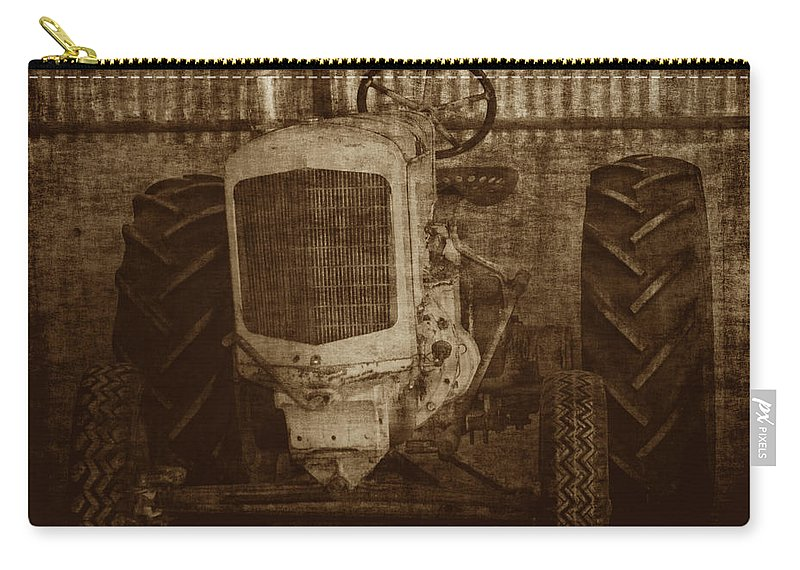 Crank Tractors Carry-all Pouch featuring the photograph Ol Yeller In Sepia by Ernie Echols