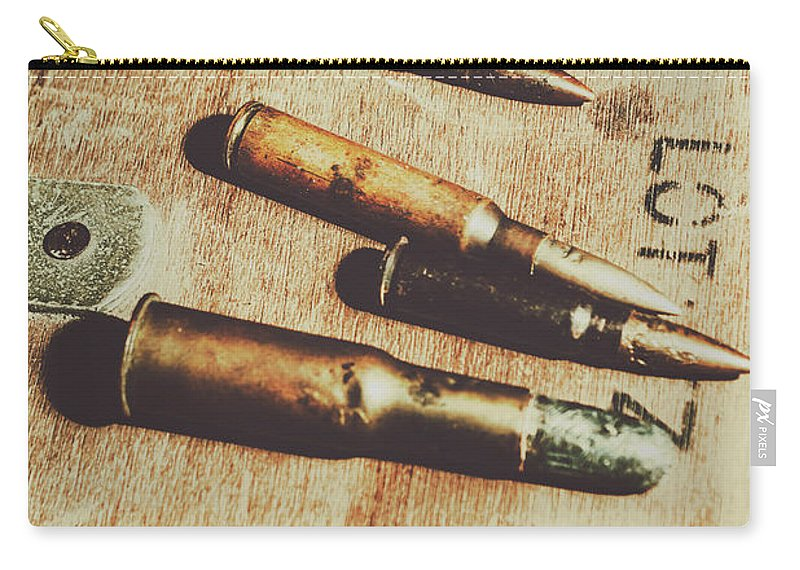 Army Carry-all Pouch featuring the photograph Old Ammunition by Jorgo Photography - Wall Art Gallery