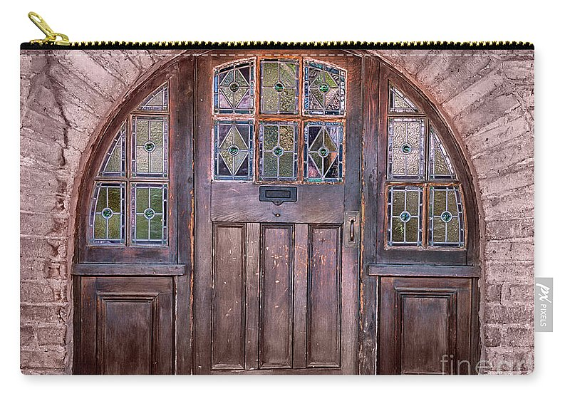 Southwest Carry-all Pouch featuring the photograph Old Arched Doorway-tucson by Sandra Bronstein