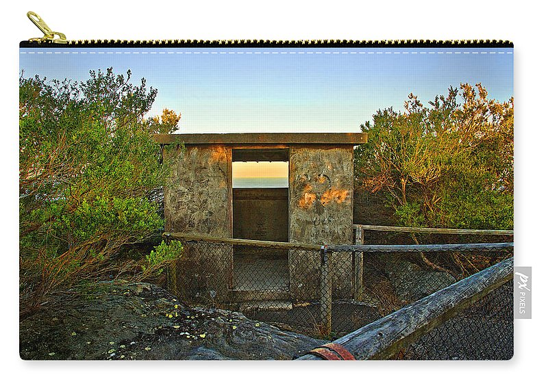 Old Carry-all Pouch featuring the photograph Old Army Lookout In Sunset Hour by Miroslava Jurcik