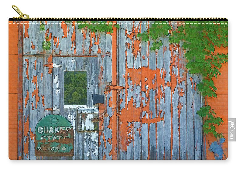 Old Barn Doors Carry-all Pouch featuring the painting Old Barn Doors by L Wright