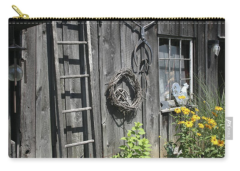 Barn Carry-all Pouch featuring the photograph Old Barn II by Margie Wildblood