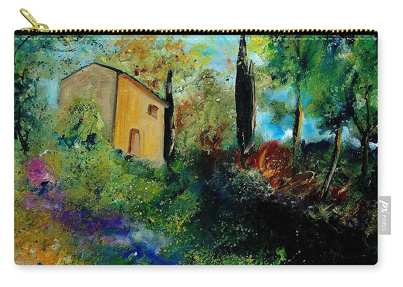 Provence Carry-all Pouch featuring the painting Old Barn In Provence by Pol Ledent