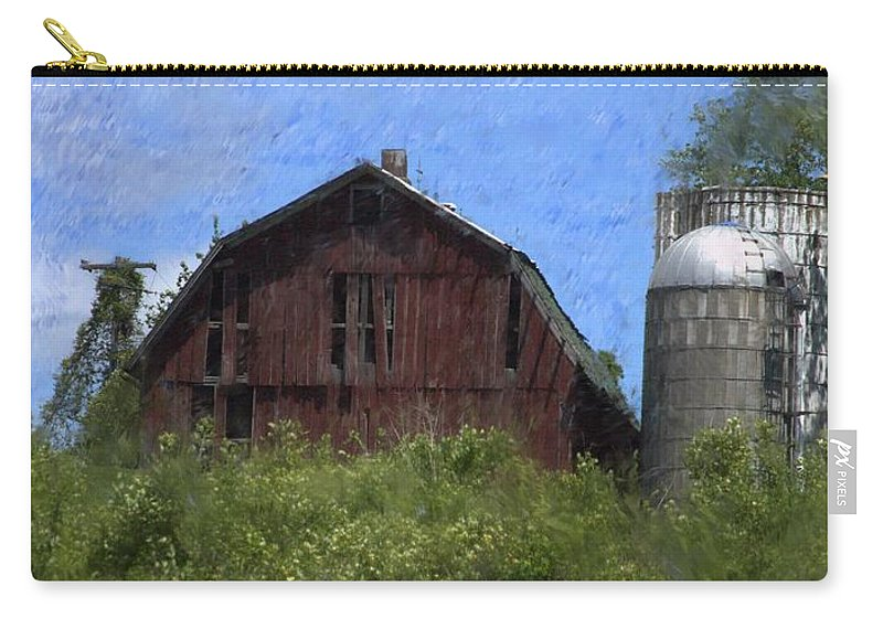 Old Barn Carry-all Pouch featuring the photograph Old Barn On Summer Hill by David Lane