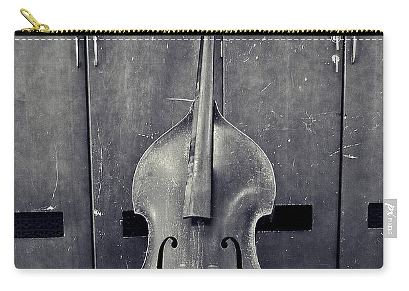 Black And White Carry-all Pouch featuring the photograph Old Bass by Scott Wyatt
