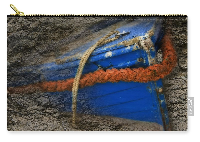 Wall Carry-all Pouch featuring the digital art Old Boat by Svetlana Sewell