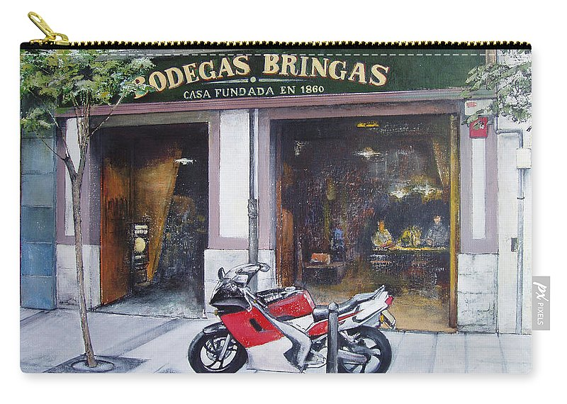 Bodegas Bringas Carry-all Pouch featuring the painting Old bodegas Bringas by Tomas Castano