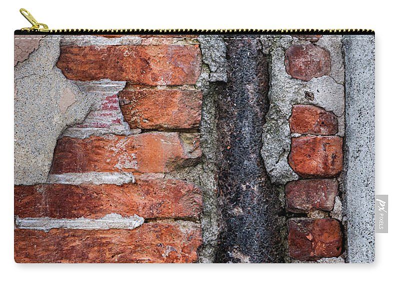 Wall Carry-all Pouch featuring the photograph Old Brick Wall Fragment by Elena Elisseeva