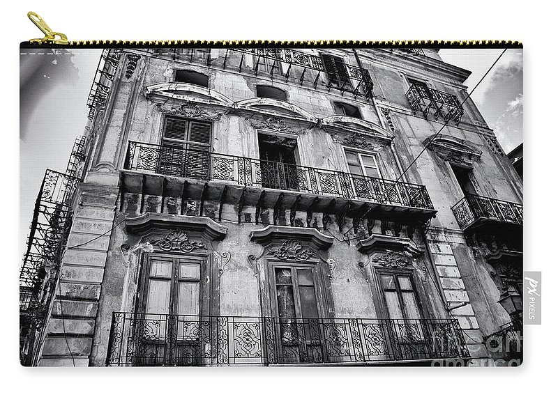Sicily Carry-all Pouch featuring the photograph Old Building In Sicily by Madeline Ellis
