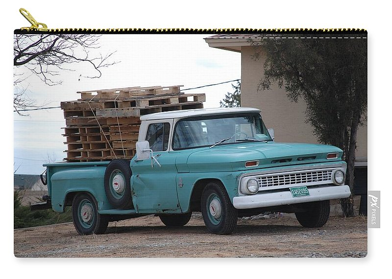 Old Truck Carry-all Pouch featuring the photograph Old Chevy by Rob Hans