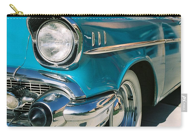 Chevy Carry-all Pouch featuring the photograph Old Chevy by Steve Karol