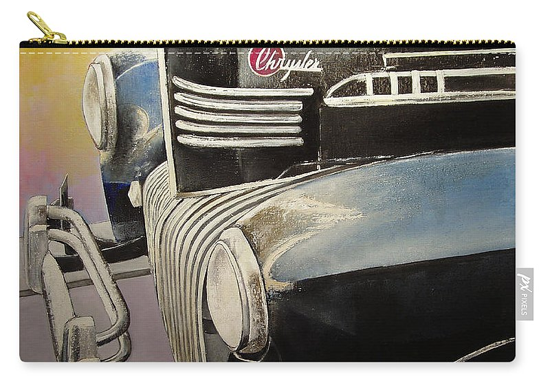 Old Carry-all Pouch featuring the painting Old Chrysler by Tomas Castano