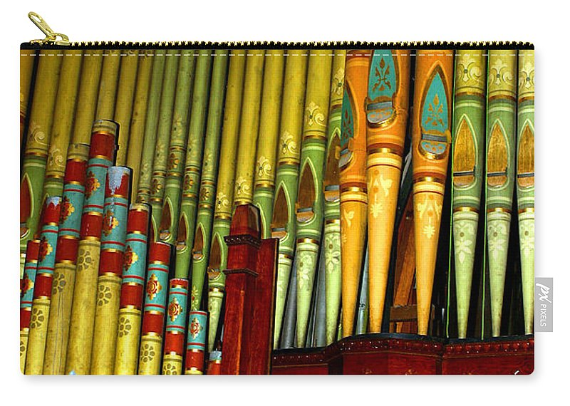 Organ Carry-all Pouch featuring the photograph Old Church Organ by Anthony Jones