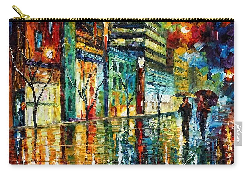 Afremov Carry-all Pouch featuring the painting Old City by Leonid Afremov