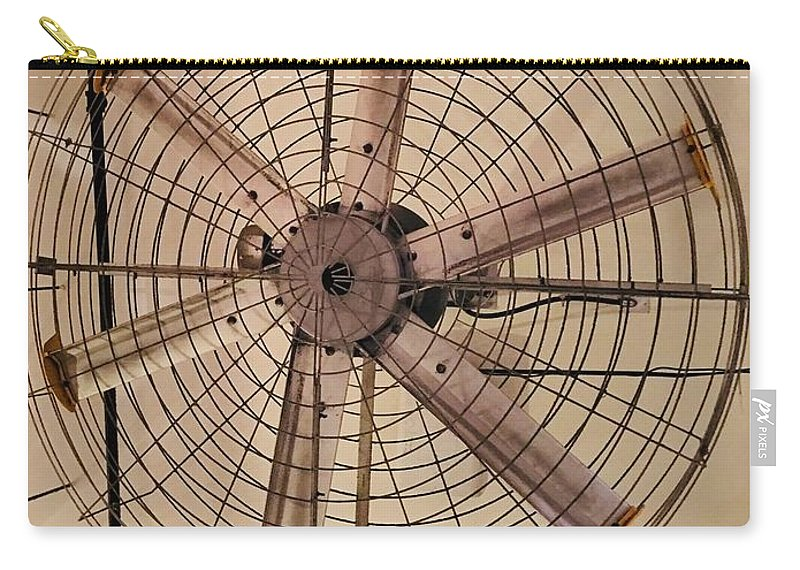 Vintage Fan Carry-all Pouch featuring the digital art Old Days by Mitzi Borota