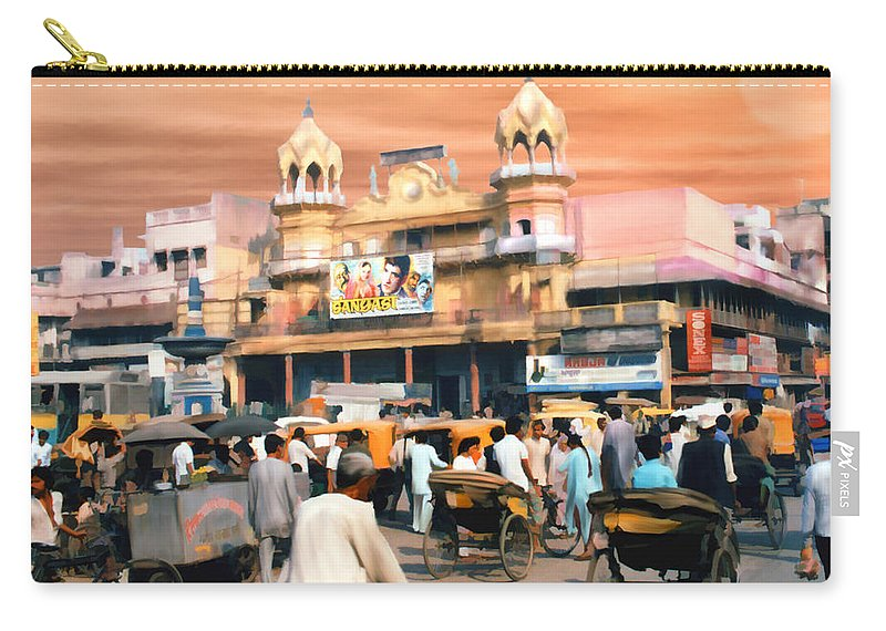 India Carry-all Pouch featuring the photograph Old Dehli by Kurt Van Wagner