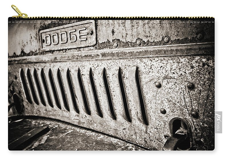 Americana Carry-all Pouch featuring the photograph Old Dodge Grille by Marilyn Hunt
