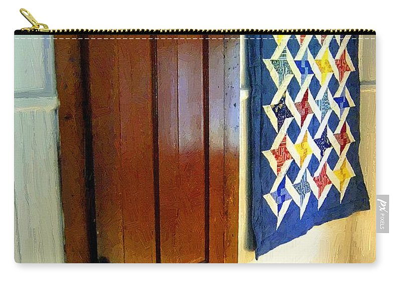Connecticut Carry-all Pouch featuring the painting Old Door - New Quilt by RC DeWinter