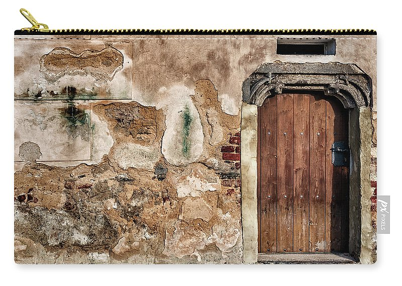 Texture Carry-all Pouch featuring the photograph Old Door. by Izabella Zubkova