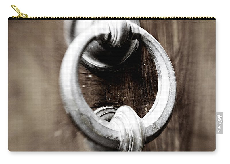 Home Carry-all Pouch featuring the photograph old Door Knocker by Marilyn Hunt