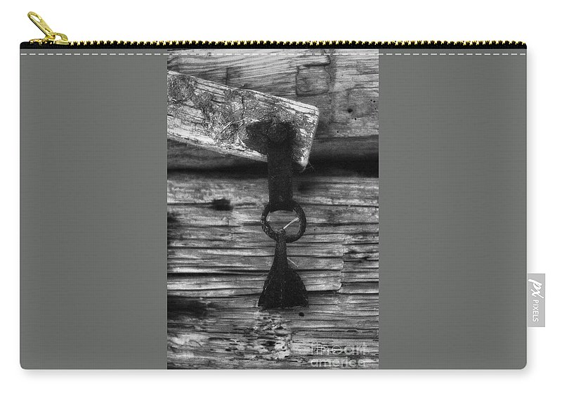 Doors Carry-all Pouch featuring the photograph Old Door Latch by Richard Rizzo