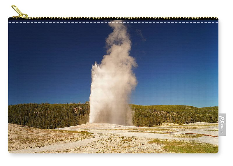Geyser Carry-all Pouch featuring the photograph Old Faithful IIi by Beth Collins
