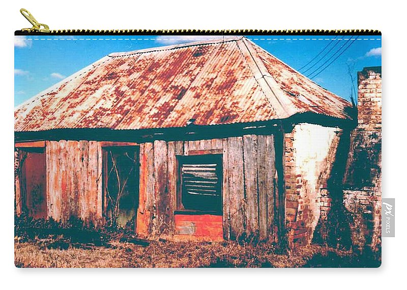 Australia Carry-all Pouch featuring the photograph Old Farm House by Gary Wonning