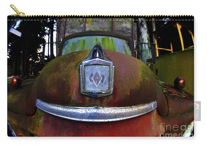 Clay Carry-all Pouch featuring the photograph Old Farm Truck by Clayton Bruster
