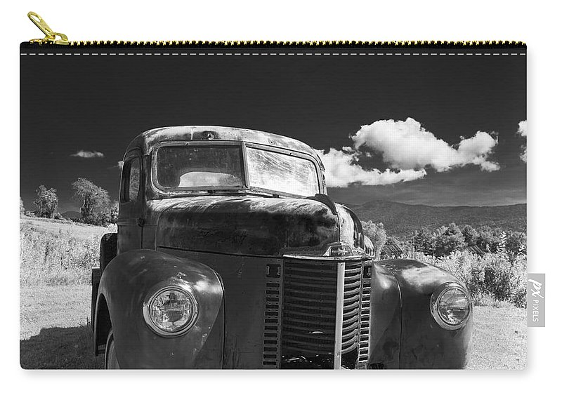 Farm Truck Carry-all Pouch featuring the photograph Old Farm Truck Infrared by Edward Fielding