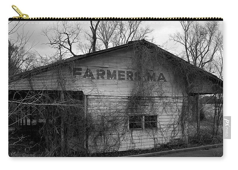 Farmer Carry-all Pouch featuring the photograph Old Farmer's Market Shed by Betty Northcutt