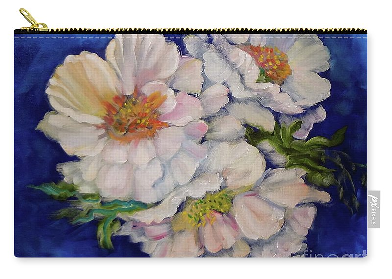 Roses Canvas Print Carry-all Pouch featuring the painting Old Fashioned Roses Jenny Lee Discount by Jenny Lee