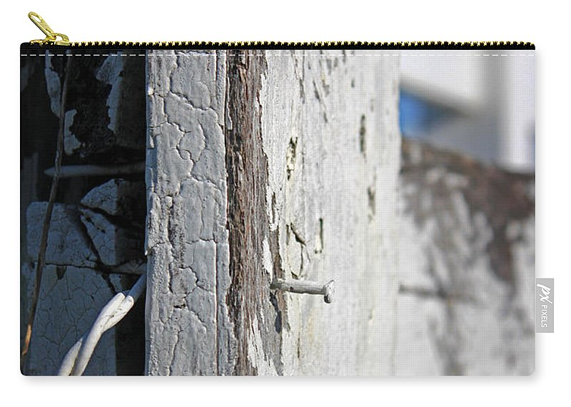 Abstract Carry-all Pouch featuring the photograph Old Fence Post by Todd Blanchard