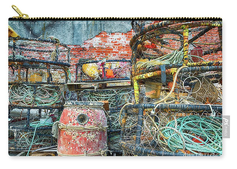 Oregon Carry-all Pouch featuring the photograph Old Fishing Gear by Paul Quinn