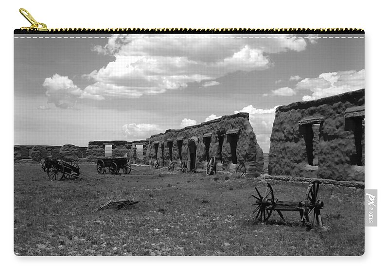 Fort Union New Mexico Carry-all Pouch featuring the photograph Old Fort Union by David Lee Thompson