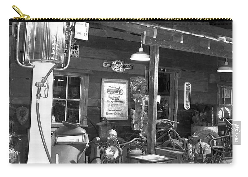 Carry-all Pouch featuring the photograph Old Gas Pump by Teresa Doran