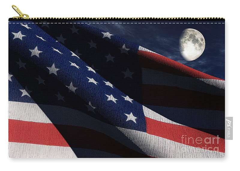 Us Flags Carry-all Pouch featuring the digital art Old Glory 2 by Richard Rizzo