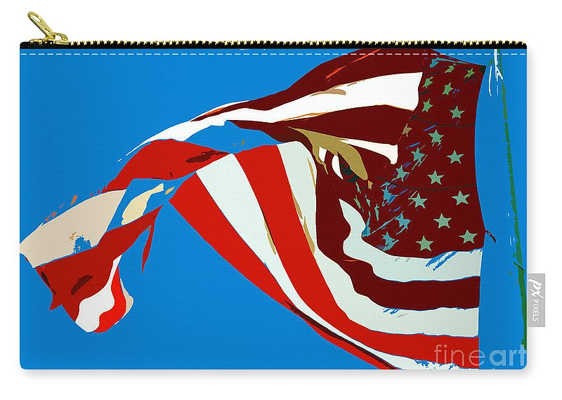 Old Glory Carry-all Pouch featuring the painting Old Glory Flying by David Lee Thompson