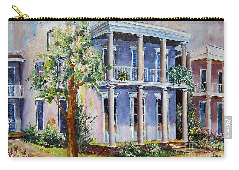 Alabama Carry-all Pouch featuring the painting Old Gulf Coast Home by Diane Millsap