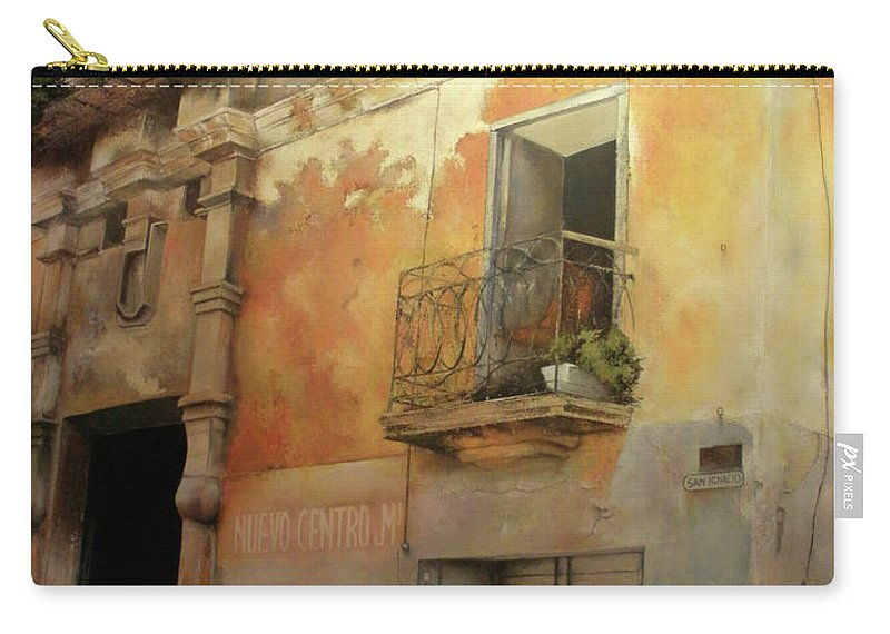 Havana Cuba Carry-all Pouch featuring the painting Old Havana by Tomas Castano