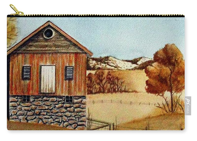 Building Carry-all Pouch featuring the painting Old Homestead by Jimmy Smith