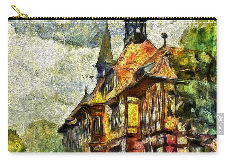 Paint Carry-all Pouch featuring the painting Old House by Nenad Vasic
