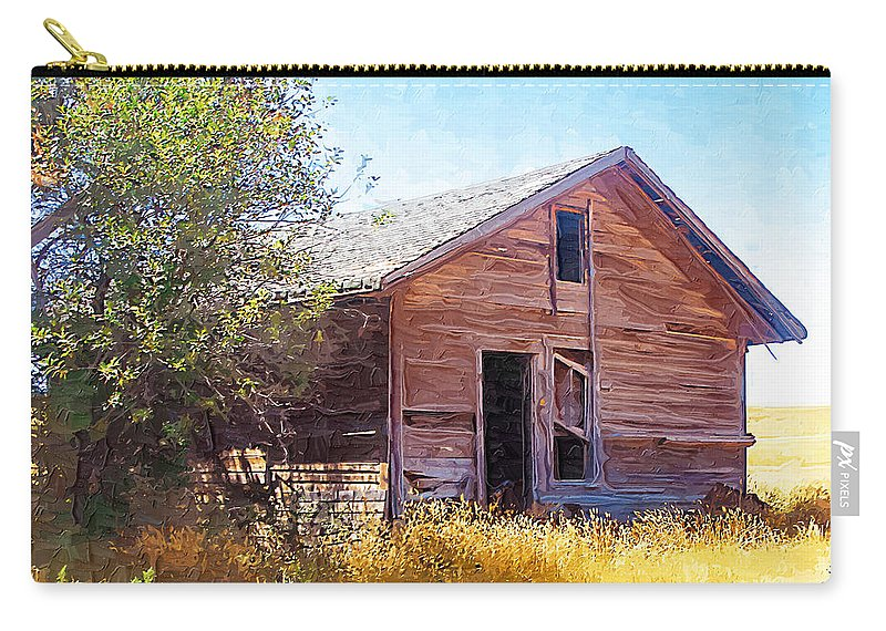 Floweree Montana Carry-all Pouch featuring the photograph Old House by Susan Kinney