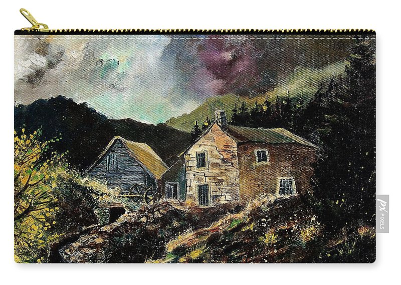 Tree Carry-all Pouch featuring the painting Old Houses 5648 by Pol Ledent