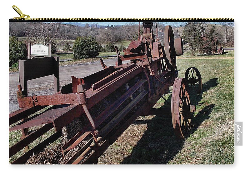 Scenic Tours Carry-all Pouch featuring the photograph Old Iron by Skip Willits