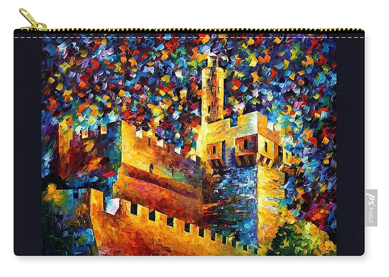 Afremov Carry-all Pouch featuring the painting Old Jerusalem by Leonid Afremov