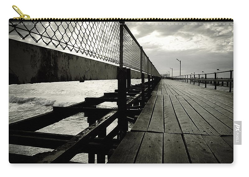 Old Carry-all Pouch featuring the photograph Old Jetty by Kelly Jade King
