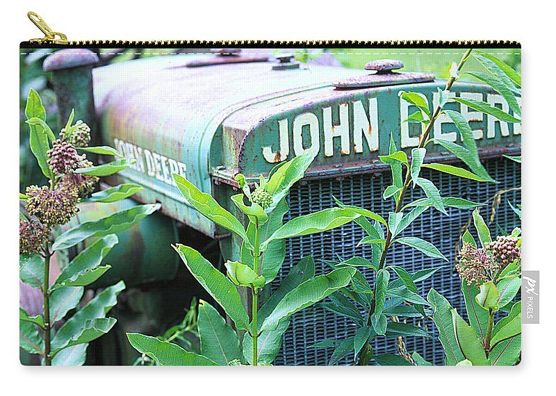 Old Carry-all Pouch featuring the photograph Old John Deere by Robert Ponzoni