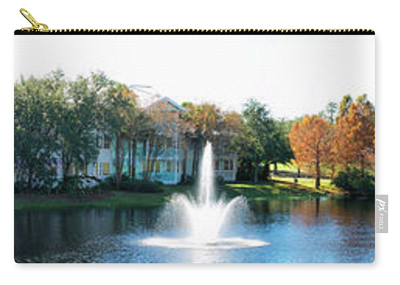Old Key West Carry-all Pouch featuring the photograph Old Key West Resort Panorama Walt Disney World Mp by Thomas Woolworth